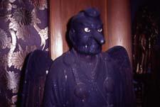 La seule statue  du Tengu des Mts Ominé au temple Kizoin.