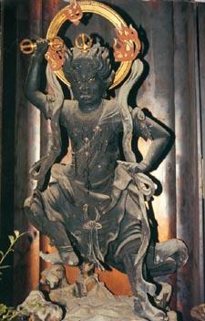 L'avatar/dieu Zao-gongen du temple Kimpusenji du village de Yoshino.